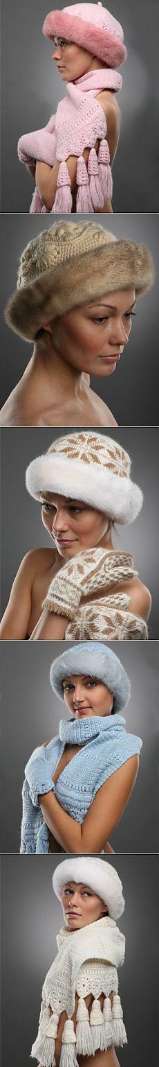 Los sombreros de piel de fotos paso a paso de tejer sombreros con pieles