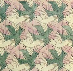 escher tessallations- Tessallations are shapes that are repeated over and over again so there are no gaps