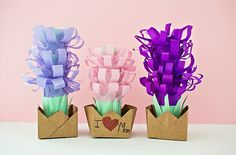 PAPER TISSUE HYACINTH FLOWER POTS - Hello Wonderful