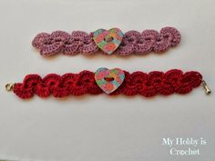 My Hobby Is Crochet: Crochet Bracelet with Heart Button - Free Pattern with Tutorial | My Hobby is Crochet