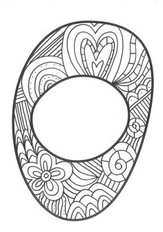 The super original mandaletras learn the alphabet - Educational Images Coloring Letters, Alphabet Coloring Pages, Coloring Pages For Girls, Coloring Pages To Print, Colouring Pages, Paisley Flower, Doodle Lettering, Pencil Art Drawings, Zentangle
