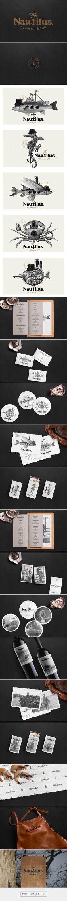 The Nautilus Oyster Bar & Grill Restaurant Branding and Menu Design by Stepan Solodkov | Fivestar Branding Agency – Design and Branding Agency & Curated Inspiration Gallery