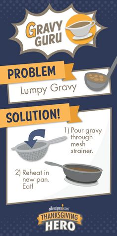 How to Fix Lumpy Gravy | Got lumps in the gravy? Don't panic, it's a super-easy fix.
