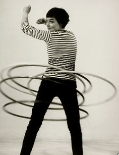 Hula hoops!  I still have one today that I got from Curves.