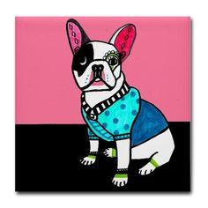 Frenchi Art French Bulldog Art Shower Curtain by HeatherGallerArt, $90.00
