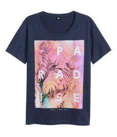 Heren | Geselecteerd | T-shirt met print nu 4,99 | H&M NL