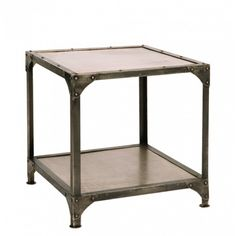 Riveted Metal Table - Accent Tables - Living Room - Furniture
