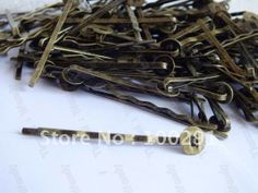 Jewelry DIY findings - 2000pcs 45mm with 8mm flat pad antique bronze hair clip hair bobby pins findings accessories $108.38