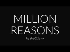 Million Reasons (Piano Karaoke) Lady Gaga - YouTube