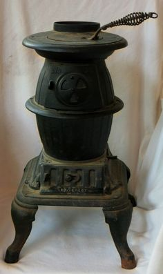 Vintage Antique Pot Belly Stove Sears Roebuck Cast Iron Wood Coal No. Wood Burning Furnace, Coal Burning Stove, Coal Stove, Antique Cast Iron Stove, Antique Stove, Outdoor Wood Furnace, Gothic Kitchen, Wood Stove Cooking, Vintage Stoves