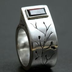 LOVE the details on this Sterling Silver ring! Really special!