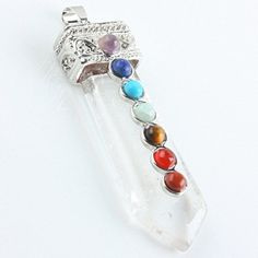 SUNYIK Rock Crystal Quartz Gemstone 7 Chakra Healing Stone Focal Beads Pendant Bead SUNYIK http://www.amazon.com/dp/B00PU65GBW/ref=cm_sw_r_pi_dp_-Wu9wb1NKVM4J