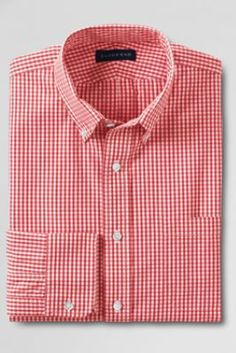 7ae3b267b12 Men s Traditional Fit 40 s Poplin Dress Shirt from Lands  End Mens Tailor