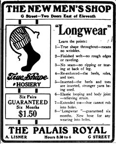 The New Men's Shop - Longwear (1913)