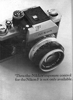 Collection of vintage Nikon ads - Nikon Rumors Nikon Camera Lenses, Leica Camera, Camera Nikon, Canon Lens, Camera Gear, Old Cameras, Vintage Cameras, Gopro Photography, Underwater Photography