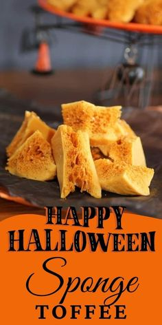 Sponge Toffee is fun to make and reminds me of my childhood as it was a favorite!! Crunchy, melt in your mouth candy goodness! #spongetoffee #Halloweentreats
