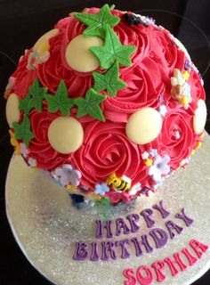 Fantasmagorical Fairy house giant cupcake for my daughters 3rd birthday!