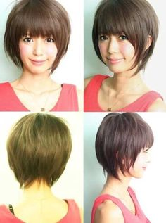 Extremely Charming and Appealing Bob Hairstyle with Great and Pretty Angular Side Sections and Fine Strands of Light Brown Hair