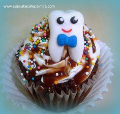 Tooth Cupcake. Dentist Cupcake