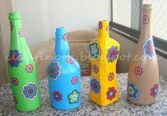 Reciclagem, artesanato, reaproveitamento, colagem em tecido, decoupagem, chita.