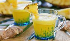 Ananas suyu ve bal;  Bromelain enzimi içeren ananas lezzetli bir meyve olmasının yanı sıra öksürükten iltihaplanmış akciğerlerin tedavisinde de kullanılır. Daha fazla öksürme ihtiyacını bastırır. Uzmanların araştırmalarına göre ananasta doğal olarak bulunan bromelain astım tarzı öksürüklerde de kullanılır. Ananas suyunu biraz ılıtın. 1 yemek kaşığı balı buna ekleyin ve balın erimesini bekleyin. Sıcak ve soğuk içebilirsiniz. Ilık hali boğazınızı rahatlatacaktır.