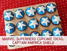 Marvel Superhero Cupcake Ideas: Captain America Shield