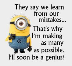 We have 17 minion quotes for all those who enjoy humor from time to time. Minions embody everything that is cool. So you will def love these minion quotes. Check them out! Humor Minion, Funny Minion Memes, Minions Quotes, Funny Jokes, Funniest Memes, Funny Sayings, Despicable Me Quotes, Minion Sayings, Funny Sarcastic
