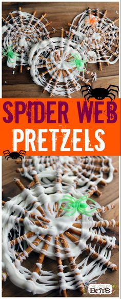 Pretzels - Easy Halloween Treat for Kids Spider Web Pretzels - These are such a fun and easy Halloween treat. Perfect treat for a Halloween party.Spider Web Pretzels - These are such a fun and easy Halloween treat. Perfect treat for a Halloween party. Halloween Cupcakes, Dessert Halloween, Halloween Treats For Kids, Halloween Goodies, Holiday Treats, Easy Halloween Cakes, Holiday Fun, Halloween Kitchen, Healthy Halloween