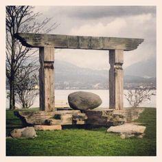 Zen garden in Vancouver, British Columbia, Canada