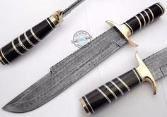 "16.00"" Custom Hand Made Beautiful Damascus steel Bowie Knife (AA-0399-1) #UltimateWarrior"