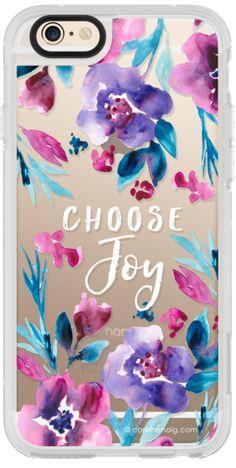 Casetify iPhone 6 New Standard Case - Choose Joy Flowers by Corinne Haig Designs #Casetify