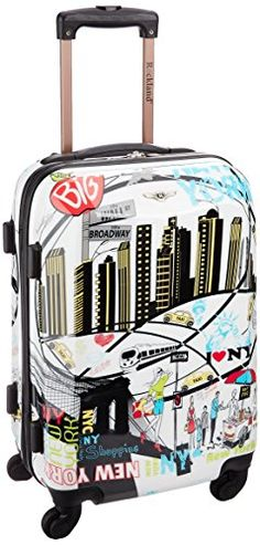 Rockland Luggage 20 Inch Polycarbonate Carry On Newyork One Size -- You can find more details by visiting the image link.