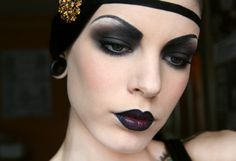 Trying to figure out how to use rebel in a makeup look.   viciousbetty:  Flapper makeup by Killer Colours