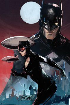 Gotham city love, Batman and Catwoman artwork by Peter V. Batgirl, Nightwing, Catwoman Y Batman, Im Batman, Batman Art, Spiderman, Batman Superhero, Batman Stuff, Joker