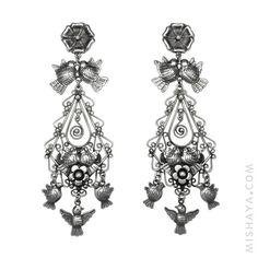 Love Birds Chandelier Earrings Sterling Silver #mishaya