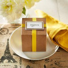 DIY Paris Stamped Gift Box Label