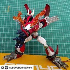 #Repost @superrobotmayhem with @repostapp ・・・ My magma dragoon still needs a…