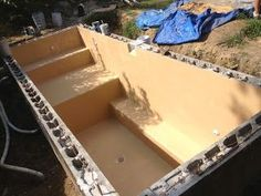 smartworkstudio: How to build a Homemade In-Ground Back Yard Pool / Spa - Germantown Philadelphia. Homemade Swimming Pools, Homemade Pools, Diy Swimming Pool, Building A Swimming Pool, Natural Swimming Pools, Diy Pool, Pool Spa, Homemade Hottub, Natural Pools