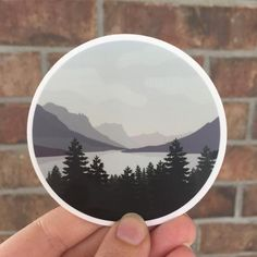 DESCRIPTION: This is a 3 inch matte sticker of a Mountain Landscape. Perfect for water bottles, laptops, and everywhere else! These stickers are made using Stickermule, so they have a thick, durable vinyl that protects your stickers from scratches, water & sunlight. The shipping for these Anime Stickers, Funny Stickers, Bumper Stickers, Laptop Stickers, Preppy Stickers, Mountain Drawing, Selling Handmade Items, Mountain Landscape, Pin Image