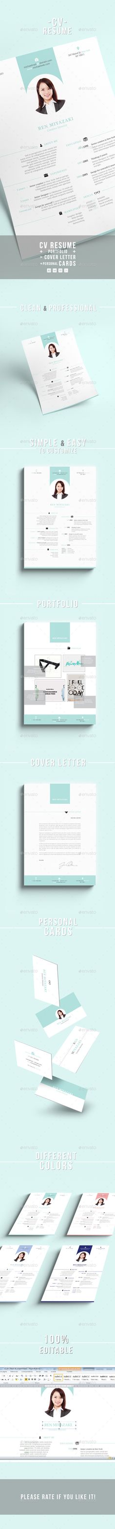 Resume CV - #Resumes Stationery Download here   graphicriver - resume download