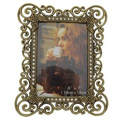 Gift Garden 5x7 Family Picture Frame- Classic Hollow up Metal Frames, Bronze >>> See this great product.