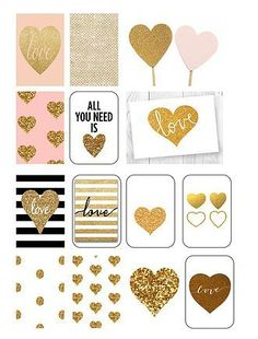 Free Printable Gold Heart Planner Stickers from traceyplans Free Planner, Happy Planner, Planner Ideas, Planer Organisation, Perfect Planner, Printable Planner Stickers, Jolie Photo, Day Planners, Glitter Hearts