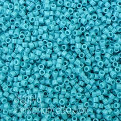 Size 11/0 Miyuki Delica Seed Beads DB658 - Dyed Opaque Turquoise Green DB-658 Miyuki Delica Beads - 7 Gram Tube - Miyuki Delica Turquoise