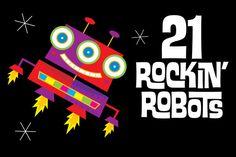 21 Rockin' Robots by steckfigures on Creative Market