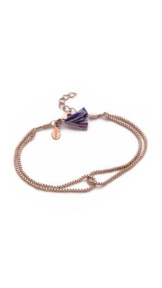 Shashi Love Knot Bracelet - tassle annnd looped chain, cute and simple!