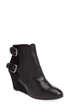 Attilio Giusti Leombruni 'Double Buckle' Wedge Bootie (Women) available at #Nordstrom