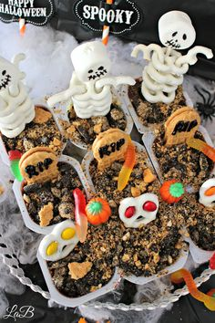 Snack Pack Halloween Pudding Cups