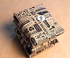 Just print your design on plain ol' paper and use as wrapping!