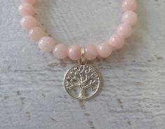 arbre de la vie rose bracelet bracelet rose par beachcombershop