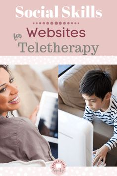 Are you looking for online materials for social skills for #distancelearning or #teletherapy?  Check out this blog post with links to my favorite sites!  #socialskills #distancelearrning #speechtherapy #noprint #pragmatics